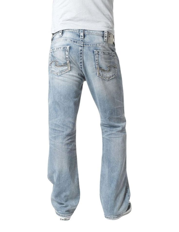 SILVER JEANS NWT Buckle Mid Rise Grayson Relaxed Bootcut Stretch Jean 42 X 32 #SilverJeans #BootCut