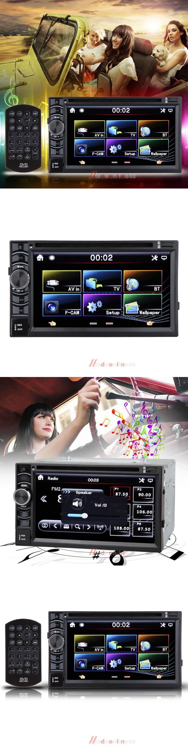 Vehicle Electronics And GPS: 6.2 2 Din Navigation Car Stereo Receiver Bluetooth Gps/Dvd/Usb/Sd Radio Monitor -> BUY IT NOW ONLY: $78.99 on eBay!