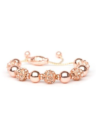 The rose gold trend shows no signs of stopping, and this upscale bracelet is the perfect way to put some into your wardrobe.  A classic wrap style is infinitely prettier featuring a gleaming strand of rose-hued sparkle on delicate chain cord.
