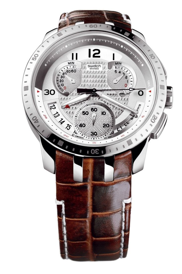 Best leather strap watches men images best ideas about watches for - Swiss Made The Swatch Watch Cold Hour Features A Quartz Movement A Leather Strap And A Stainless Steel Watch Head Discover More Irony Retrograde On The