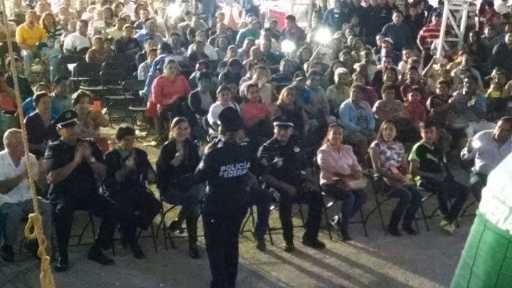 Participó mariachi de la Policía Federal en la Expo Feria Valladolid 2016 en Yucatán