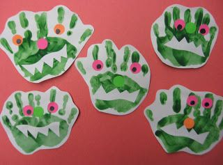 We could do a whole bulletin board with our ghost footprints, and spider and monster hands : )