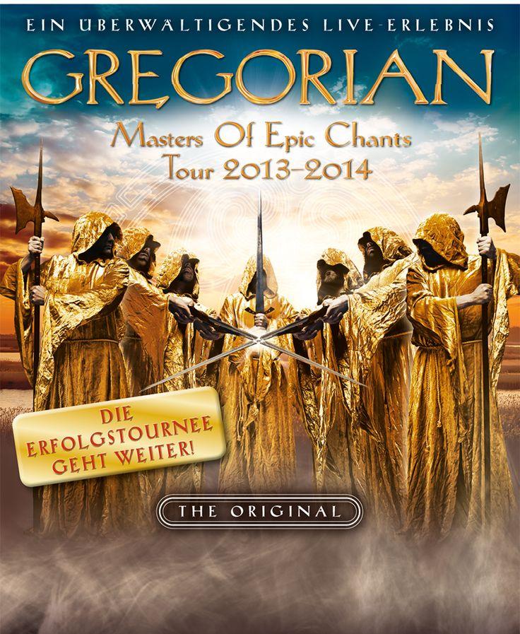 GREGORIAN - Masters of Epic Chants Tour 2013-2014 - Tickets unter: www.semmel.de