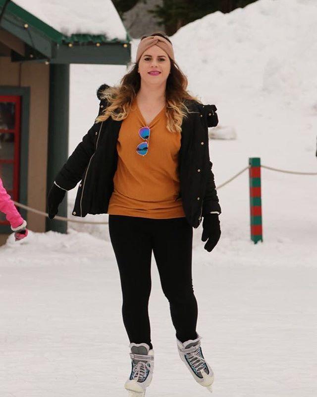 #iceskating #grousemountain #vancouver #canada🇨🇦 #neverstopyourdreams 🤗😊⛸⛸❄️ siempre quise patinar sobre hielo