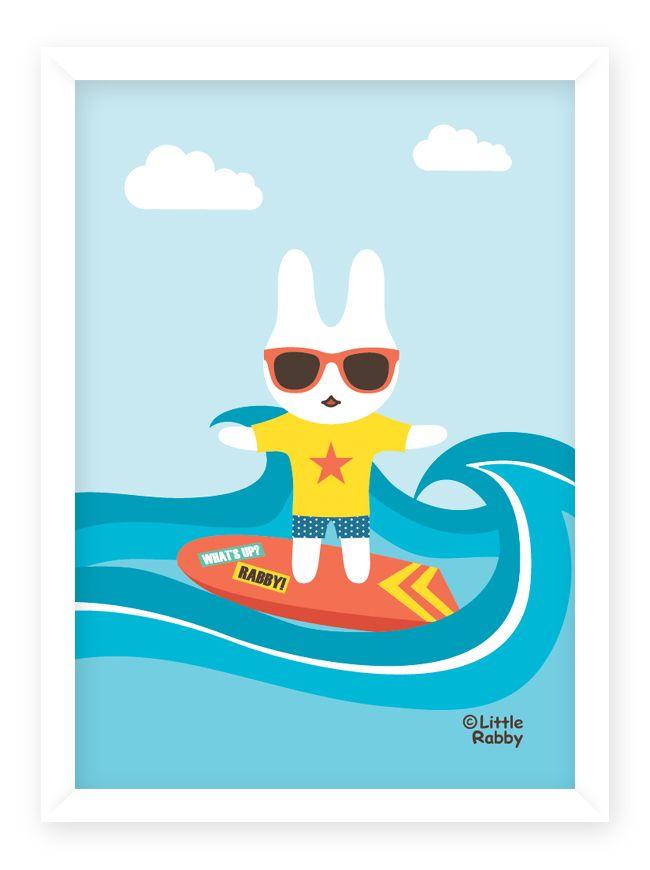 ⓒ Little Rabby / Surfing Rabby / 2014    #surfing #surfer #surf #littlerabby #illustration #illustrator #illust #picture #character #design #art #artist #layullee