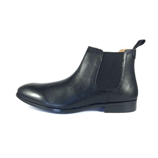 Ботинки Челси черные с фигурным носком