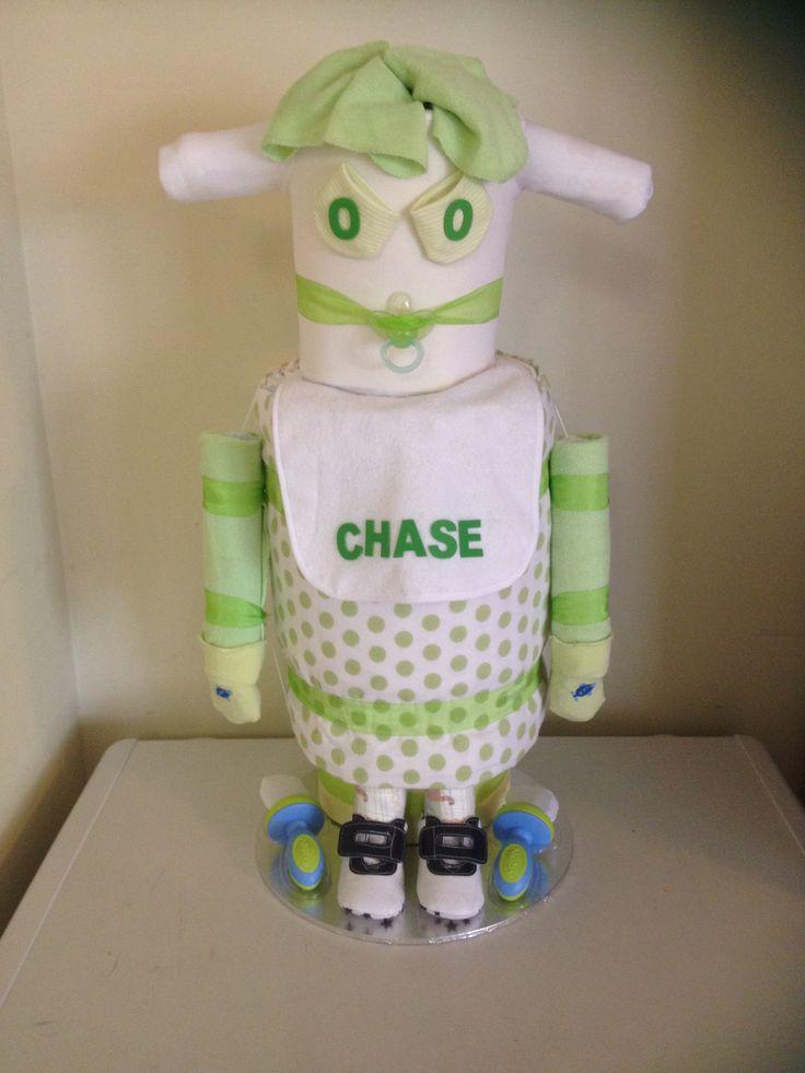 Nappy robot Www.facebook.com/amandascreativecreations