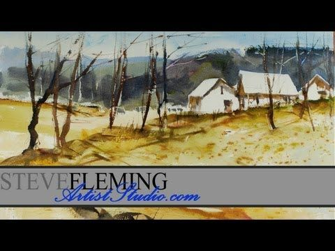 Watercolor Tutorial Using Small Brushes by Steve Fleming. Brilliant and detailed tutorial, highly recommended!