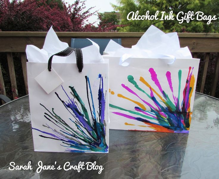 The 25 best decorated gift bags ideas on pinterest cheap gift sarah janes craft blog alcohol ink decorated gift bags negle Gallery