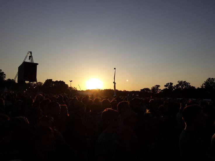 Beautiful sunset over V Festival at Hylands Park in Chelmsford, Essex #vfestival #vhylands