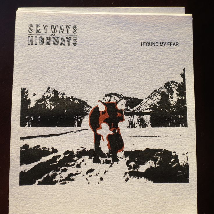 Custom two colour screenprint of Skyways Are Highways newest record's album art