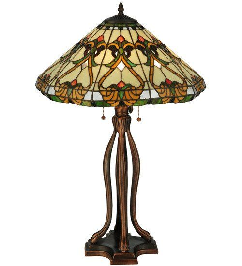 """30""""H Middleton Victorian Tiffany Table Lamp"""