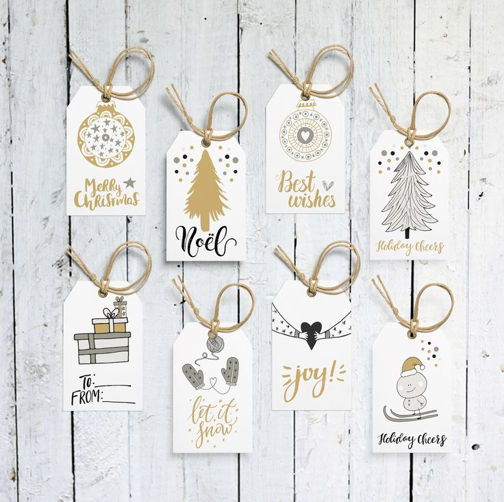 Christmas Tags, Holiday Tags, Gift Tags, Printable Gift Tags,  Black And White, Gold And White, Printable, Digital File, Instant Download by vocatio on Etsy https://www.etsy.com/ca/listing/557177920/christmas-tags-holiday-tags-gift-tags