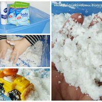 Snowmen from shaving foam & soda powder, http://dzieciakiwdomu.blogspot.cz/2014/02/snieg.html?utm_source=BP_featured