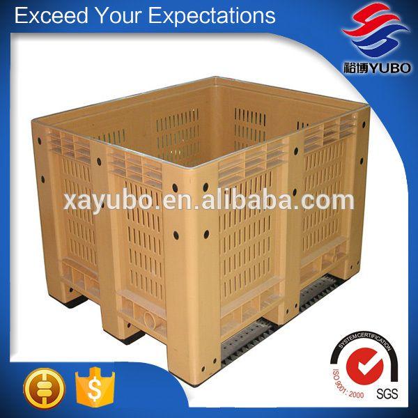 transport plastic pallet bin for supermarket