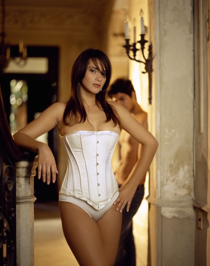 Spirit - Victorian Corsets  Ivory Satin with Bridal Braid  By Vollers Corsets