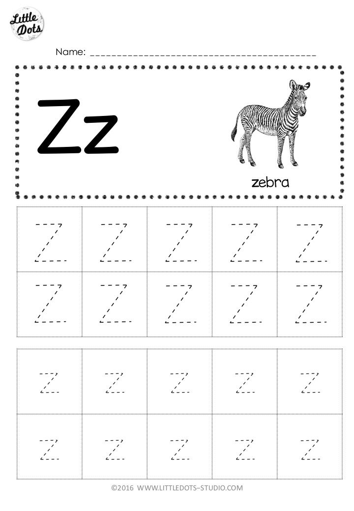 Free Letter Z Tracing Worksheets With Images Tracing