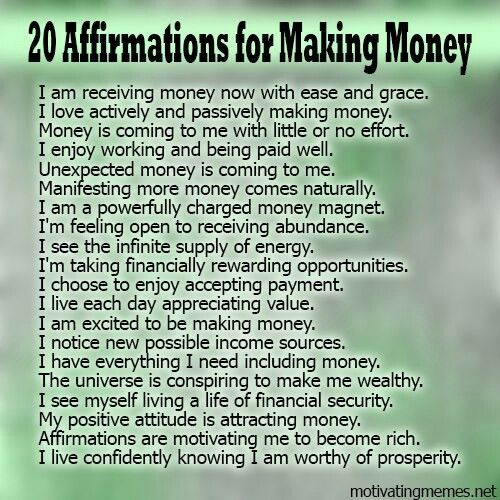 Money making affirmations