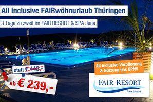 FAIR RESORT & SPA Jena. Bis zu 5% Cashback bei Ab in den Urlaub Deals 1€ Cashback für Buchungen bis 25€ 5% Cashback für Ihre Buchung ab 25€ #reisen #urlaub #flug #hotel