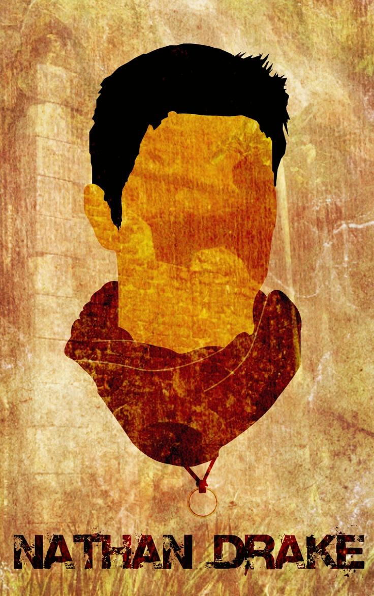 minimal movie poster for nathan drake - unchartered