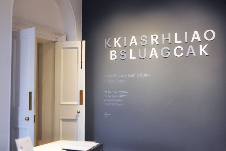 Karla Black + Kishio Suga: A New Order by O Street, UK. #branding #signage