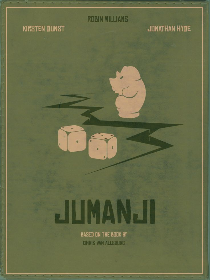 """Jumanji"" Minimalist Movie Poster / Joe Johnston  © Doab Choudhuri"