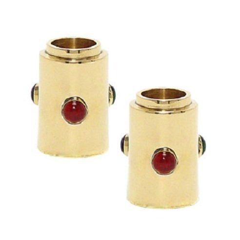 """Candle Holders for Shabbat Diner and Jewish Holiday - Brass 2"""" SET by Alef Judaica. Save 20 Off!. $23.99. Shabbat and Holiday. Candle Holders. Jewish Holiday. Judaica Gift. Brass Stone VB Traveling 2 inches. Brass / Storen VB Traveling Candlesticks 2' high. Shabbat and Jewish Holiday"""