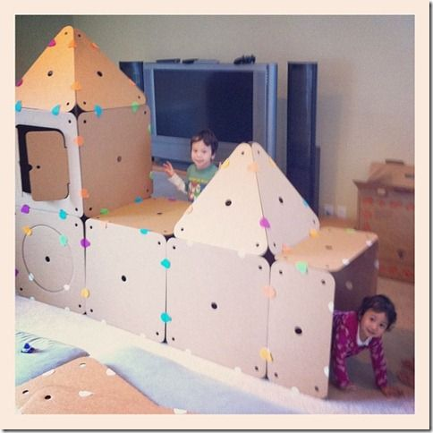 how to make a fort out of cardboard
