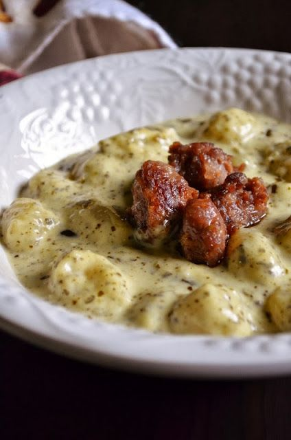 Gnocchi with Pesto Cream Sauce