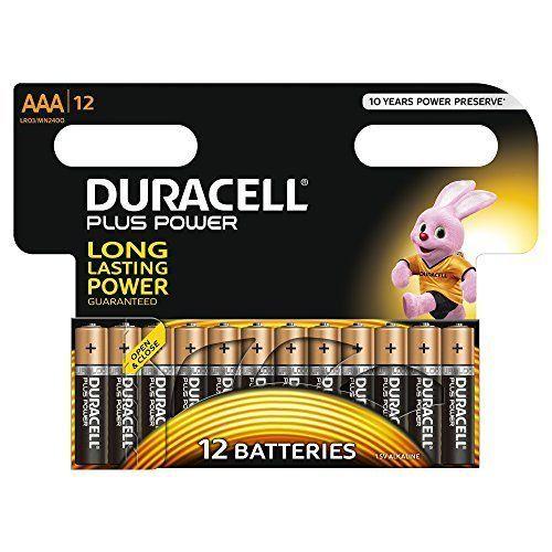 Duracell Batteries AAA Alkaline  MN2400 Plus Power Alkaline Size  (Pack of 12)