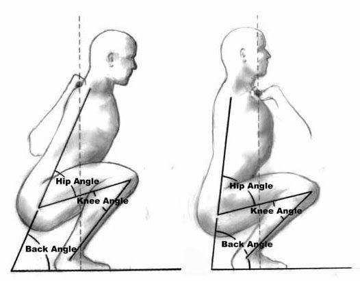 BackSquat FrontSquat Comparison Research Review: Front or back squats