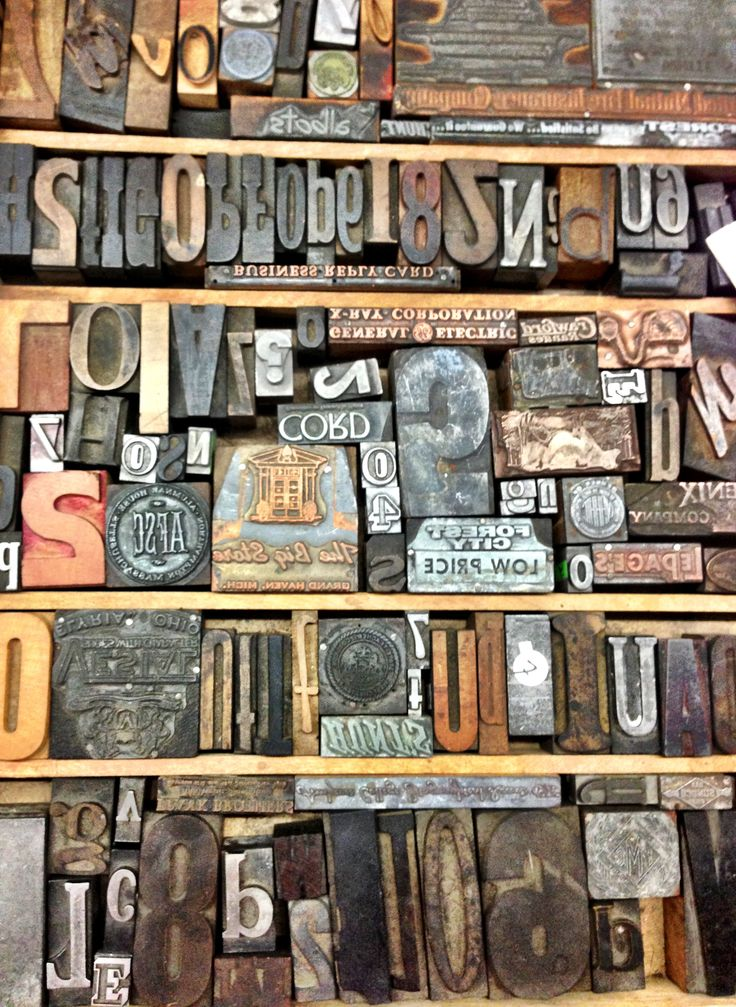 Wooden letter press blocks. Would love to make a table out of these for our waiting area.