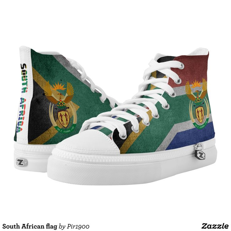 South African flag High-Top Sneakers - Canvas-Top Rubber-Sole Athletic Shoes By Talented Fashion And Graphic Designers - #shoes #sneakers #footwear #mensfashion #apparel #shopping #bargain #sale #outfit #stylish #cool #graphicdesign #trendy #fashion #design #fashiondesign #designer #fashiondesigner #style