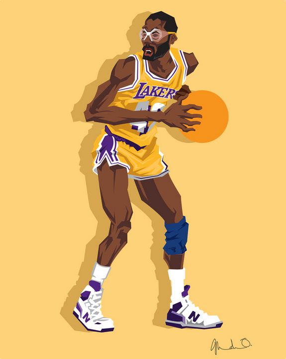 James Worthy Caricature Art