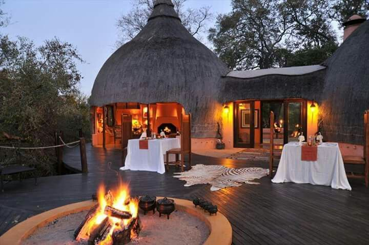Interesting places to visit in South Africa. Hoyo Hoyo Safari Lodge - A celebration of the local Tsonga culture, from its traditional rondawel rooms to the splashes of tribal design and earthy tones defining its interiors, Hoyo Hoyo exudes a hearty spirit of warmth and welcoming....#wildlife #southafrica #photosafari #tourism #extremefrontiers #bush #adventure #holiday #vacation #safari #tourist #travel