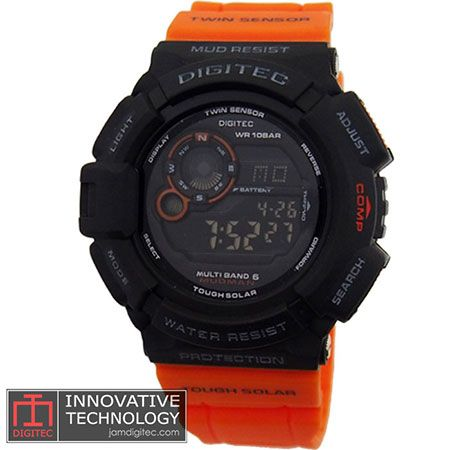 jam tangan digitec DG-2028T hitam orange