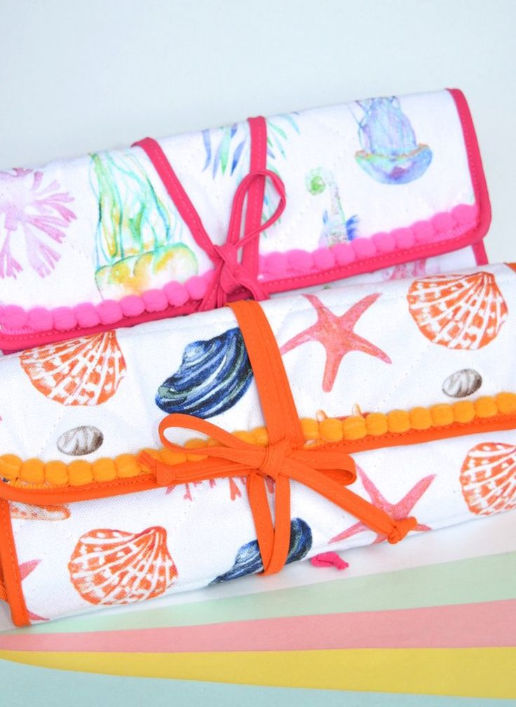 Jewelry travel bag-Under the sea-Amarone