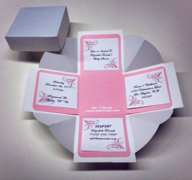 it 39 s a girl baby shower exploding box invitations created in soft
