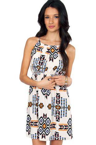 Desert Aztec Dress $24 at www.tobi.com