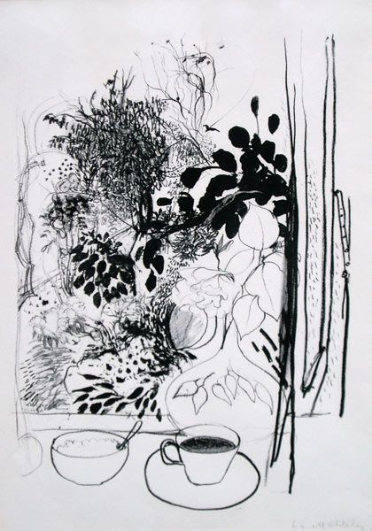 brett whiteley After returning to Australia (1985) from Fiji I was influenced by Whiteley's paintings of Fiji and also his lyrical drawings of the South Coast and Lavender Bay, his use of reed pens and strong brush drawings in ink together with his striking black and white portraits.
