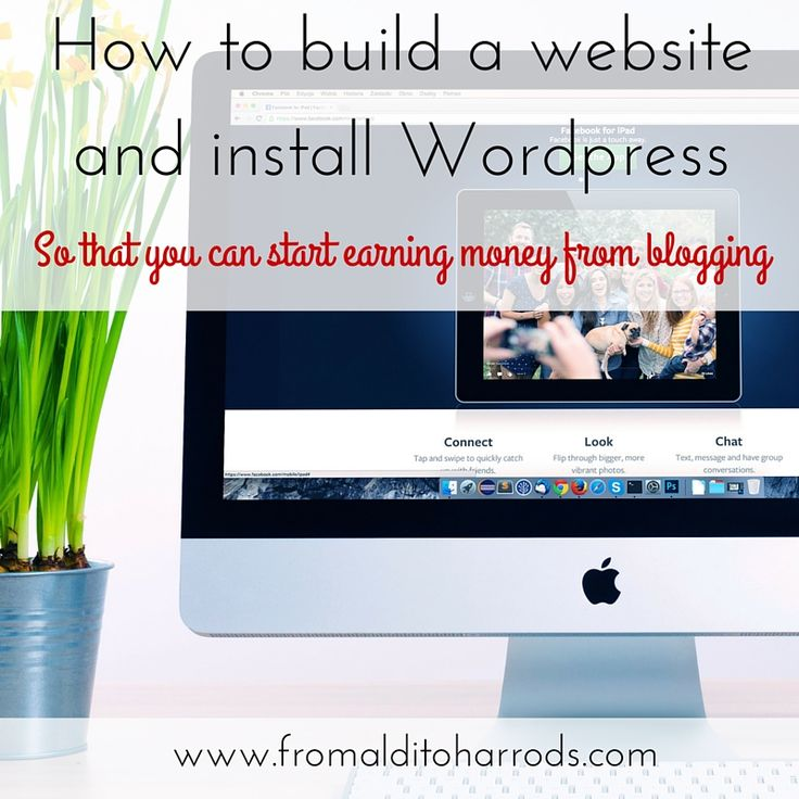 How to build a website and install WordPress So that you can start earning money from blogging
