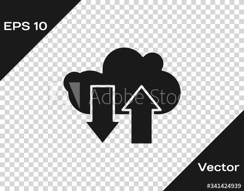 Black Cloud Download And Upload Icon Isolated On Transparent Background Vector Illustration Ad Up In 2020 Vector Illustration Printable Menu Template Illustration