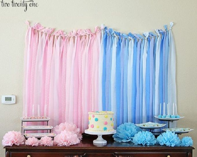 Blue or pink, what do you think? 45 incredible DIY gender reveal party ideas that you can make quite easily...and on a budget too!