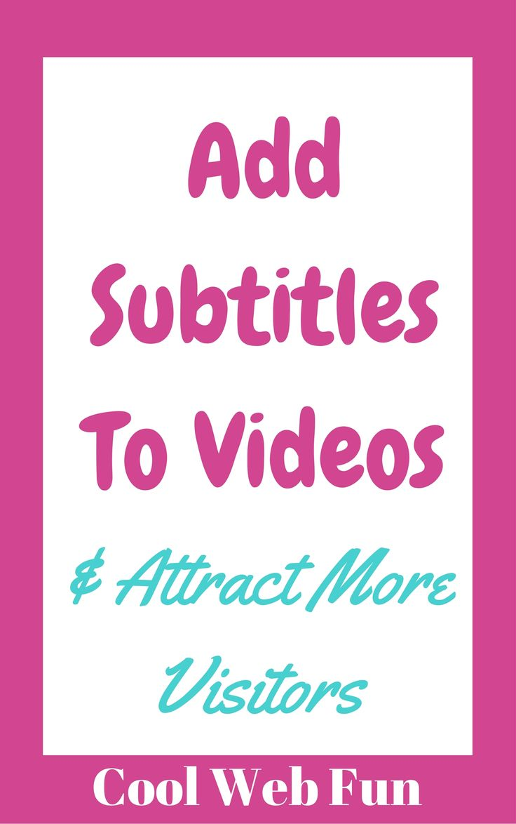 Make your videos more user friendly with the subtitles. Check http://www.coolwebfun.com/how-to-add-subtitles-to-a-video/ to permanently add subtitles to the videos.