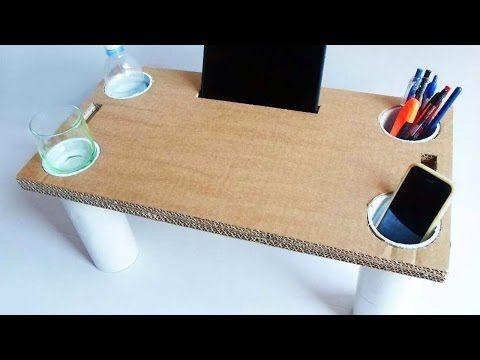 Crea un Tavolino da Letto Multiuso di Cartone - Fai da Te Casa - Guidecentral - YouTube