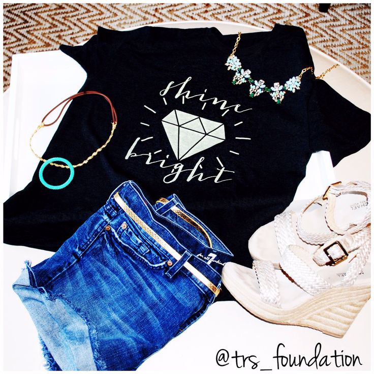 """Flash sale starts Valentine's Day for the awesome """"Shine Bright"""" tee!  www.tinyraysofsunshine.com"""