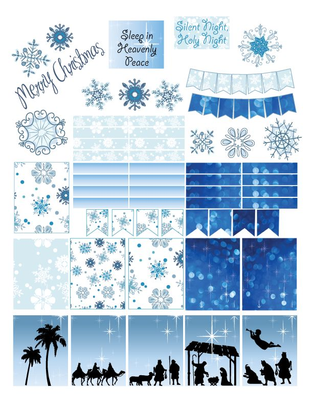 Free Printable Christmas Stickers                                                                                                                                                     More