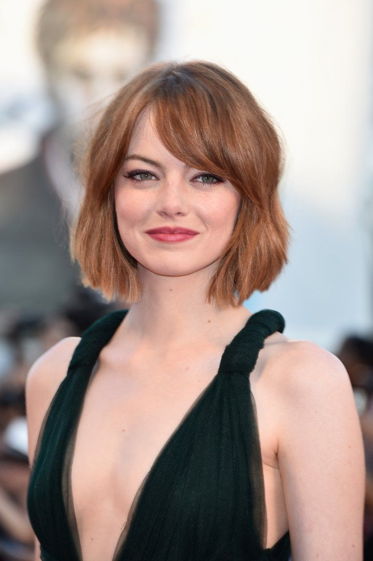 Pin for Later: The Wob (Wavy Lob!) Is the Hot New Hollywood Hairstyle Emma Stone
