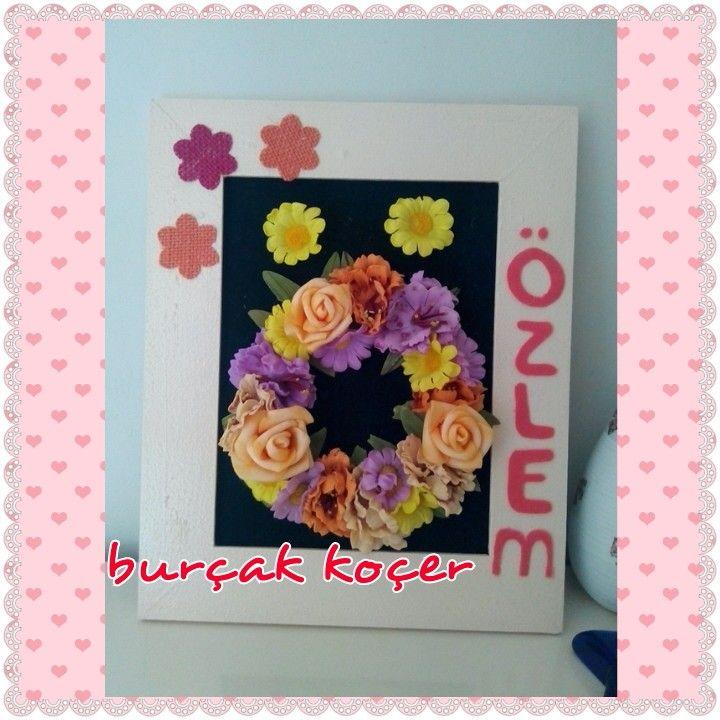 Pano çerçeve flowers