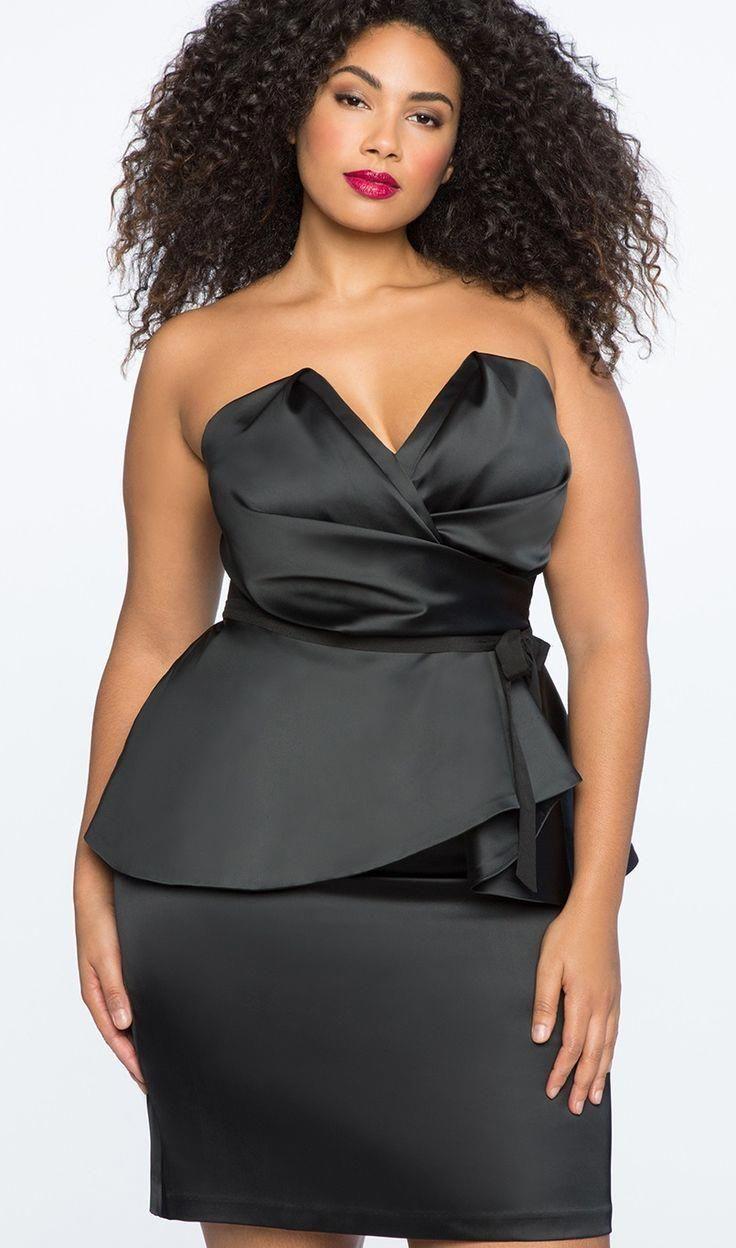 Plus Size Schößchen Kleid #Plussize Plus Size Cocktailkleid #dress